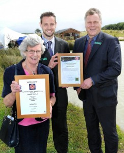 Paul Anderson & Chris Ashley – With Councillor Mrs Marion Brighton OBE